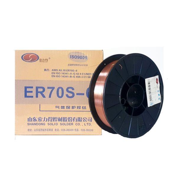 Проволока сварочная омеднённая ER 70S-6 д 0,8 мм D200 коробка 5 кг