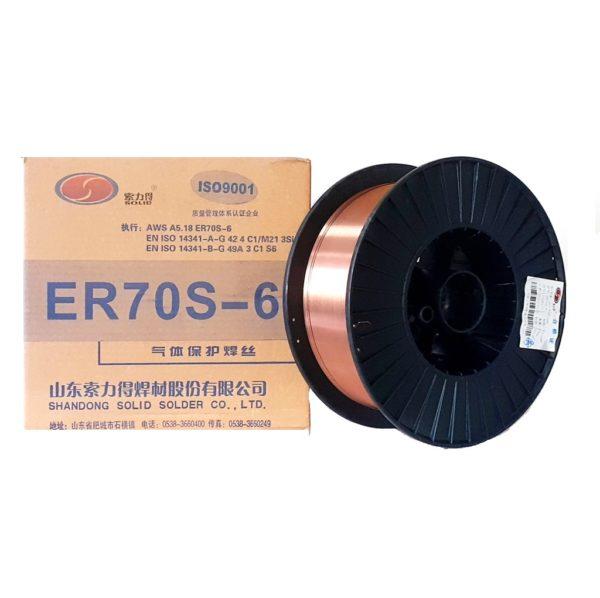 Проволока сварочная омеднённая ER 70S-6 д 0,8 мм D270