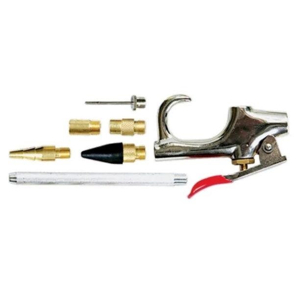Набор продувочный пистолет, пневматический в комплекте с насадками, 6 шт. MTX 573369